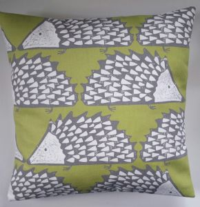 "Cushion Cover in Scion Spike The Hedgehog Kiwi Green 14"" 16"" 18"" 20"""